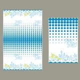 Μπλε σημεία και βυθός πρότυπο άνευ ραφής Στοκ εικόνα με δικαίωμα ελεύθερης χρήσης