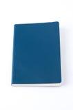 Μπλε σημειωματάριο δέρματος που απομονώνεται στο άσπρο υπόβαθρο στοκ εικόνες