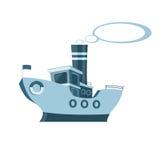 μπλε σκάφος Στοκ φωτογραφία με δικαίωμα ελεύθερης χρήσης