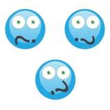 Μπλε σκέψη χαρακτήρα ερωτηματικών Στοκ φωτογραφία με δικαίωμα ελεύθερης χρήσης