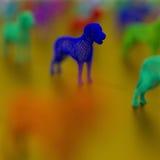 Μπλε σκυλί - χαμηλή πολυ αφηρημένη απεικόνιση Στοκ Εικόνες
