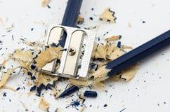 Μπλε σπασμένο μολύβι Στοκ φωτογραφία με δικαίωμα ελεύθερης χρήσης