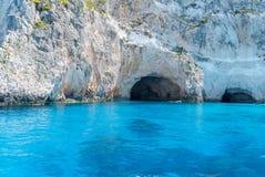 Μπλε σπηλιά από το νησί της Ζάκυνθου Στοκ εικόνα με δικαίωμα ελεύθερης χρήσης