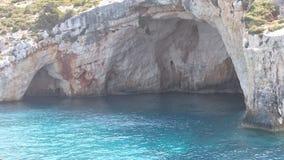 Μπλε σπηλιά στο νερό Στοκ φωτογραφία με δικαίωμα ελεύθερης χρήσης