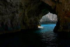 Μπλε σπηλιά Zakynthose στοκ εικόνες