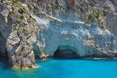 Μπλε σπηλιές στη Ζάκυνθο, Ελλάδα στοκ εικόνες με δικαίωμα ελεύθερης χρήσης