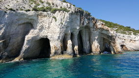 Μπλε σπηλιές της Ζάκυνθου Στοκ Φωτογραφία