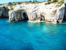 Μπλε σπηλιές της Ζάκυνθου Στοκ εικόνες με δικαίωμα ελεύθερης χρήσης