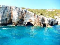 Μπλε σπηλιές της Ζάκυνθου Στοκ Εικόνα