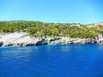 Μπλε σπηλιές της Ζάκυνθου Στοκ Εικόνες