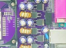 μπλε στενή μητρική κάρτα υπολογιστών χρώματος επάνω Στοκ εικόνα με δικαίωμα ελεύθερης χρήσης