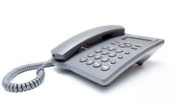 μπλε στενό τηλεφωνικό πλάνο γραφείων που τονίζεται επάνω Στοκ φωτογραφίες με δικαίωμα ελεύθερης χρήσης