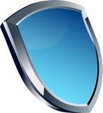 Μπλε στιλπνό τρόπαιο ασπίδων Στοκ εικόνα με δικαίωμα ελεύθερης χρήσης