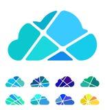 Μπλε στοιχείο λογότυπων σύννεφων σχεδίου Στοκ εικόνα με δικαίωμα ελεύθερης χρήσης