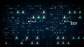 Μπλε στοιχείων ανθρώπων διανυσματική απεικόνιση