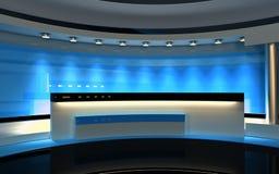 Μπλε στούντιο Στοκ Εικόνες