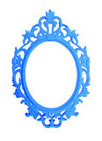 Μπλε στρογγυλό εκλεκτής ποιότητας πλαίσιο που απομονώνεται στο άσπρο υπόβαθρο Στοκ φωτογραφίες με δικαίωμα ελεύθερης χρήσης