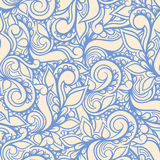Μπλε στρόβιλοι και πέταλα Στοκ Εικόνες