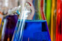Μπλε συναίσθημα χημείας στοκ εικόνες με δικαίωμα ελεύθερης χρήσης