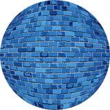 Μπλε σφαίρα τούβλου διανυσματική απεικόνιση