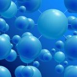 Μπλε σφαίρες Στοκ Εικόνες
