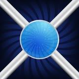 Μπλε σφαίρες Στοκ Φωτογραφίες