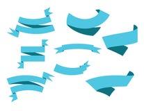 Μπλε σχέδια κορδελλών Στοκ φωτογραφία με δικαίωμα ελεύθερης χρήσης