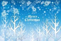 Μπλε σχέδιο ευχετήριων καρτών χρώματος με snowflake το σχέδιο υποβάθρου - διανυσματικό eps10 ελεύθερη απεικόνιση δικαιώματος
