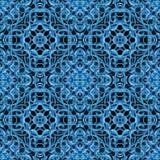 Μπλε σχέδιο Χριστουγέννων με τα φανταστικά στοιχεία φυλλώματος για το vario Στοκ φωτογραφία με δικαίωμα ελεύθερης χρήσης