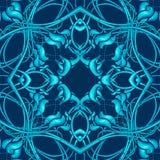 Μπλε σχέδιο Χριστουγέννων με τα φανταστικά στοιχεία φυλλώματος για το vario Στοκ φωτογραφίες με δικαίωμα ελεύθερης χρήσης