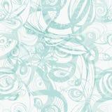 Μπλε σχέδιο Doodle με συρμένη τη χέρι διακόσμηση Στοκ Εικόνα
