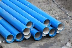 Μπλε σωλήνες Στοκ φωτογραφία με δικαίωμα ελεύθερης χρήσης