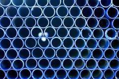 Μπλε σωλήνωση Στοκ Φωτογραφίες