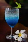 Μπλε σόδα λεμονιών Στοκ Φωτογραφίες