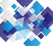 Μπλε σύγχρονο γεωμετρικό αφηρημένο υπόβαθρο Στοκ Φωτογραφίες