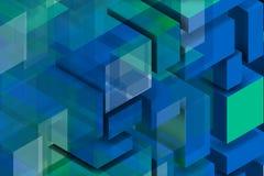 Μπλε σύνθεση για τον μπλε τοίχο ελεύθερη απεικόνιση δικαιώματος