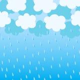 Μπλε σύννεφα με τις πτώσεις βροχής Στοκ φωτογραφία με δικαίωμα ελεύθερης χρήσης
