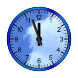 Μπλε σύννεφα ρολογιών διανυσματική απεικόνιση