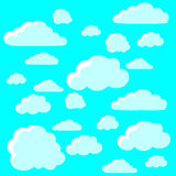 Μπλε σύννεφα, ταπετσαρία Στοκ Εικόνες