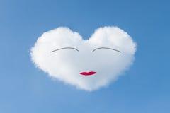 μπλε σύννεφων ημέρας καρδιών βαλεντίνος ουρανού απεικόνισης διαμορφωμένος το s Στοκ Εικόνα