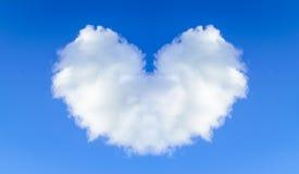 μπλε σύννεφων ημέρας καρδιών βαλεντίνος ουρανού απεικόνισης διαμορφωμένος το s Στοκ εικόνα με δικαίωμα ελεύθερης χρήσης