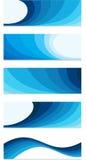 Μπλε σύνολο εμβλημάτων Στοκ Εικόνες