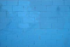 μπλε σύσταση Μπλε υπόβαθρο τουβλότοιχος φιαγμένο από βρώμικους σκουριασμένους φραγμούς Στοκ Εικόνα
