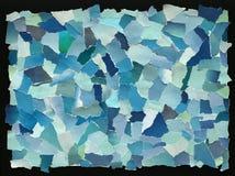 Μπλε σύσταση ουρανού του σχισμένου εγγράφου Στοκ Φωτογραφία