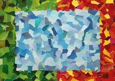 Μπλε σύσταση ουρανού του σχισμένου εγγράφου Στοκ Εικόνες