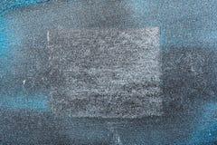 Μπλε σύσταση σκονών καλλυντικών με το άσπρο τετράγωνο Στοκ εικόνα με δικαίωμα ελεύθερης χρήσης