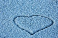 Μπλε σύσταση των κρυστάλλων παγετού Στοκ Εικόνα