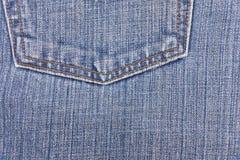 Μπλε σύσταση Jean και δικράνων Στοκ Εικόνα