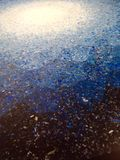 μπλε τέχνης Στοκ Φωτογραφία