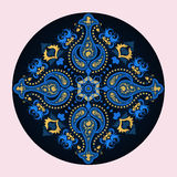 Μπλε ταϊλανδικό μοτίβο Στοκ Φωτογραφία